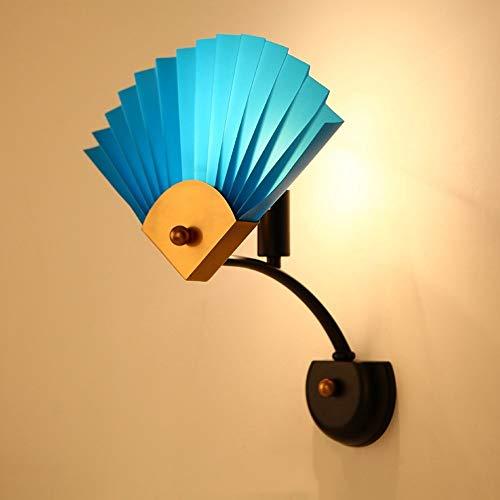 Lcxghs Outdoor Veranda Leuchten Kreative Beleuchtung LED Schlafzimmer Licht Dreieck Fan Applique Wandleuchte (Color : Blue) - Blues Dreieck