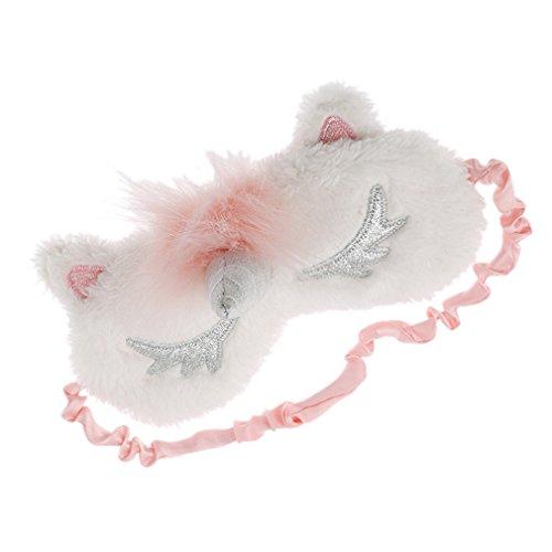 Preisvergleich Produktbild CanVivi Süße Schlafmaske Kinder Weiche Schlafbrille Augenbrille Plüsch Augen Abdeckung, Silber
