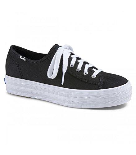 Schuhe Keds Schuh (Keds Damen Schuhe - Canvas Sneakers Triple Kick Black, Farbe:Schwarz, Größe:EUR 39)