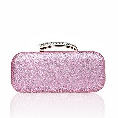 WZW Donna Poliestere Formale Casual Serata/evento Matrimonio Ufficio e lavoro Borsa da sera . silver blushing pink