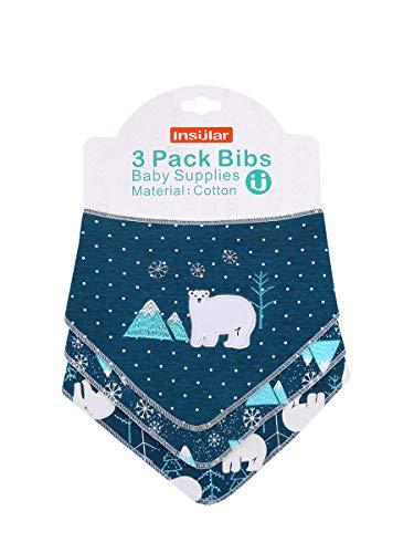 Enfant Bébé Bandana Dribble Bavettes avec Boutons De Presse Coton 0-3 Ans Pack De 6Pieces Pack,Dreamnorthpole