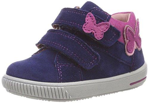 Superfit Baby Mädchen Moppy Sneaker, Blau (Blau/Rosa 80), 23 EU