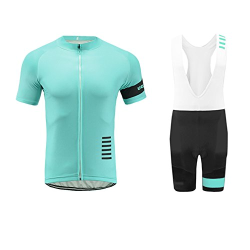 Uglyfrog 2018-2019 Neue Radsport Anzüge Herren Short Trikots+Bib Kurze Hosen Gel Pad Summer Cycling Kit Triathlon Clothes DESAZ03