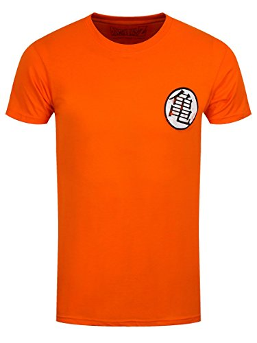 Dragon Ball Herren T-Shirt Kaio Kame Symbol Distressed Baumwolle orange - XXL (Dragon Distressed)