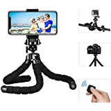 Mpow Flexible Outdoor Sports Handy Lightweight Tripod Travel Tripod Stand Camera Tripod Camera Stand Holder with Bluetooth Remote Shutter for iPhone 6/6Plus 6S 7/7, GoPro and other Mobile Phones