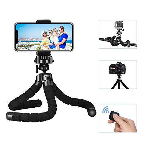 lexibel Smartphone Stativ Kamera Stativ mit Bluetooth Fernsteuerungr, Mini Reise Stativ Dreibeinstativ Ständer für Gopro iPhone Galaxy alle Android Handys Digital Kameras Dreibein ()
