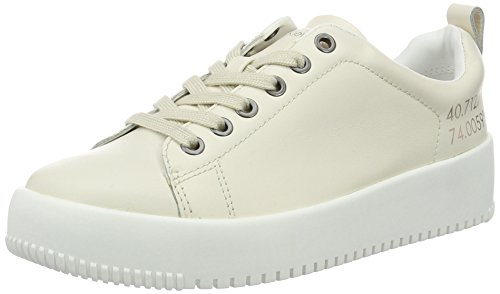 Calvin Klein Jeans Dalila Soft Nappa, Sneakers Basses Femme Blanc Cassé (Off White)