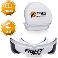 FIGHT MIND Defender Profi Mundschutz - Zahnschutz + EBook + Box + mehr O₂ + BPA freier Zahnschutz für Hockey, Boxen, Kampfsport, American Football, MMA, Kickboxen, Muay Thai, Krav MAGA