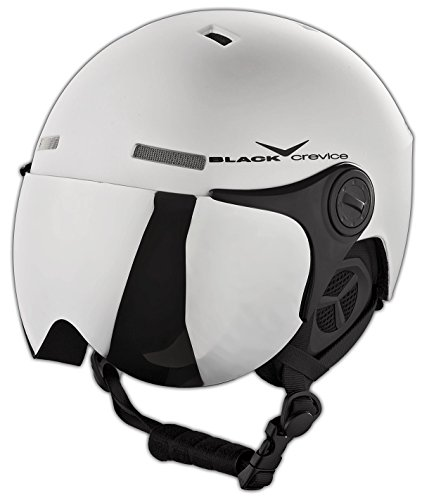 Black crevice bcr140198-sb-2_matt silver/black_58-61 - casco da sci, colore: matt silver/black