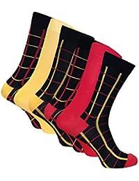 6 Paare Herren Bunt Muster Antibakteriell Bambus Socken 40-45 eur