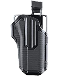 BLACKHAWK. omnívoro negro Multi Fit Holster con Streamlight TLR 1/2mano izquierda - 419002BBL, Negro
