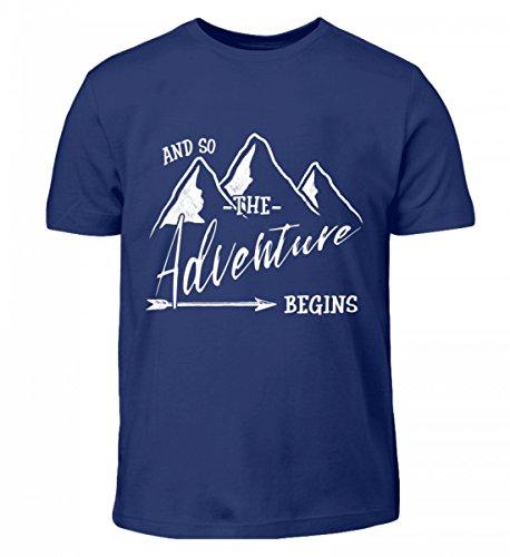 Hochwertiges Kinder T-Shirt - Das Abenteuer Beginnt - Für Alle Bergwanderer, Wandersleute, Abenteurer und Reisende (Alpine Pfeil)