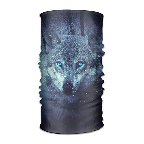 False warm warm Magic Headwear Fantasy Wolf Outdoor Scarf Headbands Bandana Mask Neck Gaiter Head Wrap Mask Sweatband (Polo Wraps Mini)