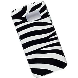 Samsung Galaxy S7 Protective Slim Case. Tasche Cover. Zebra Pattern.
