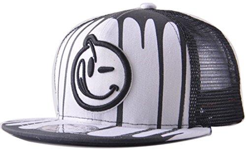 g Hip-Hop Cap Baseball Kappe Hut Truckers Hat (weiß) ()