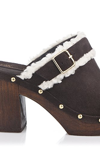 Laura Moretti Damen Swedish Nailed Shoes Clogs Marrón