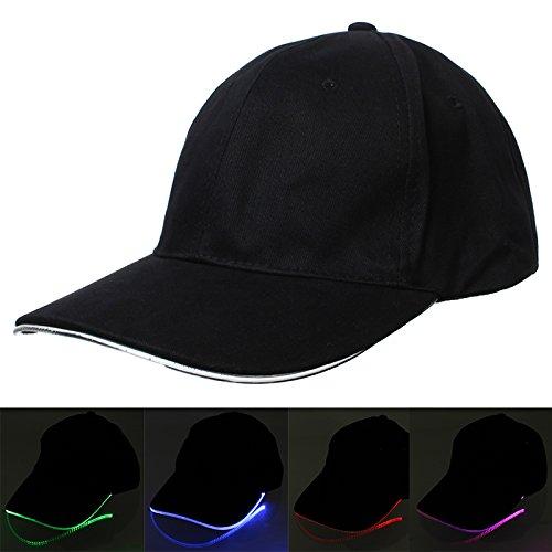 Bonamana LED Light Fashion Cool LED Baseball Caps Fedora Jazz Cap Leuchtenden Noctilucent Flash Hat für Reise Sport (Kostüm 14 Louis)
