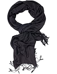 Men Solid Color Scarf Wrap Stole Shawl Scarves For Fall Versatile Mens Accessories (black)