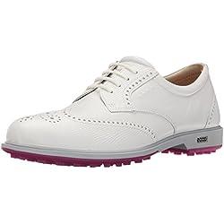 Ecco Womens Classic Hybrid, Zapatillas de Golf para Mujer, Weiß (53301WHITE/White), 38 EU