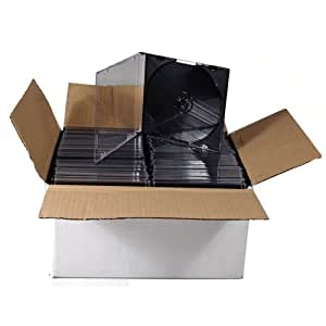 80 X CD DVD Slimline Jewel 5.2mm Cases for 1 Disc With Black Tray - Pack of 80