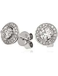 0.80CTS Certified G/VS2 centre 0.66CT Brilliant Diamond Cut Set Earrings in 18k White Gold