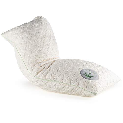 Kopfkissen 40 x 80 - Kissen absorbiert Feuchtigkeit und lässt sie verdunsten - Polster für Menschen mit empfindlicher Haut