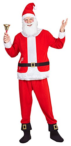 Santa Claus Boy's Costume Father Christmas Nativity Fancy Dress (M)