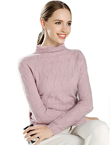 Xiouli Damen Pullover Gr. L, rose (Pullover Crewneck Brown Wool)
