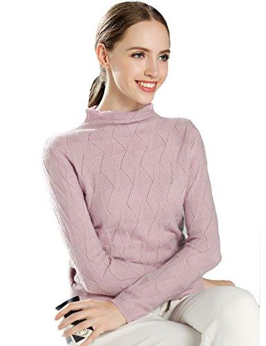 Xiouli Damen Pullover Gr. L, rose (Brown Crewneck Pullover Wool)