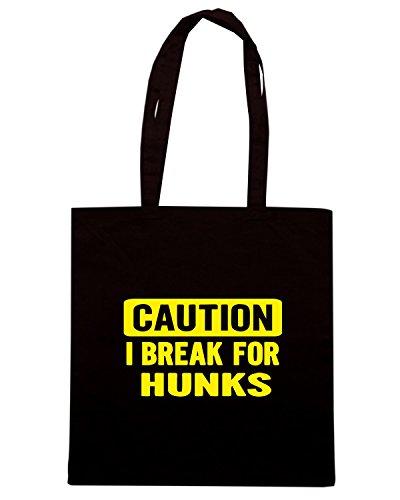 T-Shirtshock - Borsa Shopping FUN0355 328 brake 4 hunks decal 89152 Nero