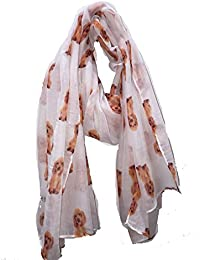 Pamper Yourself Now White Cute Cocker Spaniel Dog Long Scarf