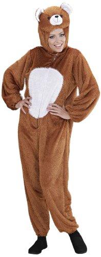 Widmann 9948C - Erwachsenenkostüm Bär, Overall mit Maske, Größe XL (Crazy Bären Kostüm)