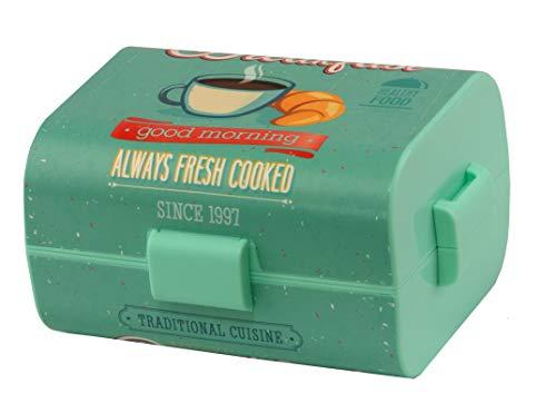 akfast - Lunch-Box für Kinder & Erwachsene, mit Trennwänden, 17 x 13 x 10 cm - Ideal für Kiga, Schule, Arbeit und Outdoor ()
