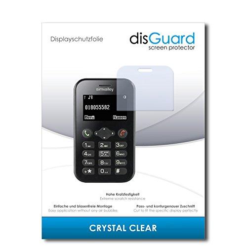 disGuard® Bildschirmschutzfolie [Crystal Clear] kompatibel mit Simvalley Mobile Pico RX-484 [4 Stück] Kristallklar, Transparent, Unsichtbar, Extrem Kratzfest, Anti-Fingerabdruck - Panzerglas Folie, Schutzfolie