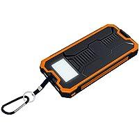 DRESS_start ladegeräte led dual usb ports solarpanel power bank fall ladegerät diy kits box für samsung s8 xiaomi solarladegeräte zubehör für tragbare geräte (Orange)