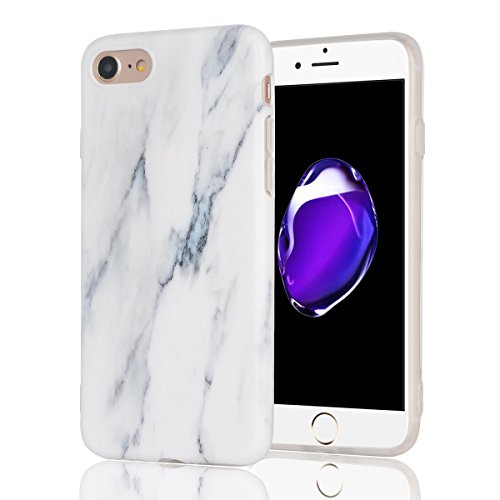 Cover Iphone 7 Custodia Iphone 8 Marmo Leton Tpu Silicone Case Cover