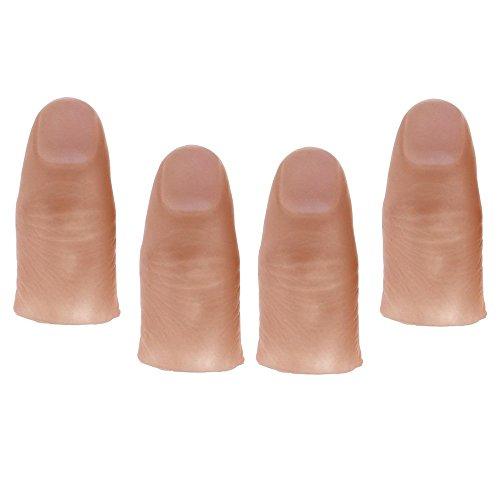 Finger light, luci dita led finger lampada falso pollice giocattolo magia -- rosso 4 pz
