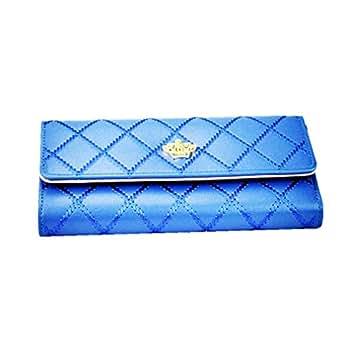 Koly Les Femmes D'Embrayage, Longue Bourse Portefeuille En Cuir Titulaire De La Carte De Sac à Main De Sacs (Bleu)