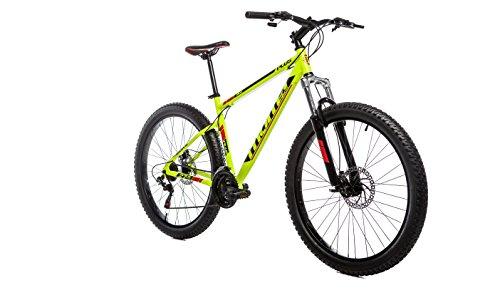 """Moma Bikes Bicicletta Mountain Bike Plus, Tipo: 27,5\""""BTT, Cambio Shimano a 21 velocità. Alluminio, Freni a Disco e Sospensione, L-XL, 1.80-2.00m."""