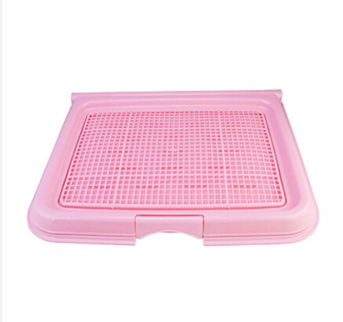 Flip-Open Cover Pet Dog Mesh Pet Toilet Tray Cat Pad Indoor Pet Potty Toilet Puppy Pee Training Clean Pot