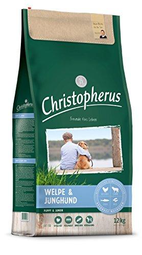 Christopherus Trockenfutter für Welpen und Junghunde, Speziell mittlere bis größere Rassen, Geflügel, Lamm, Fisch und Reis, 12 kg