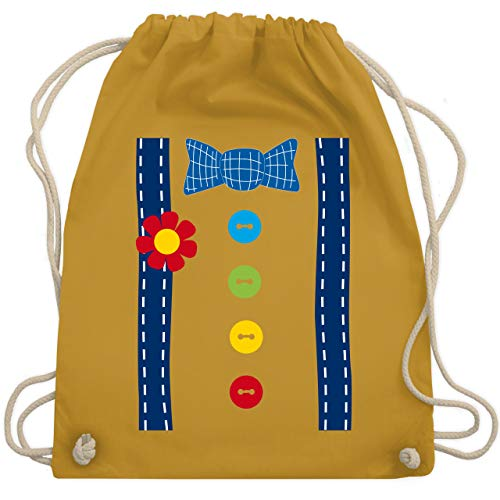 (Karneval & Fasching - Clown Kostüm blau - Unisize - Senfgelb - WM110 - Turnbeutel & Gym Bag)