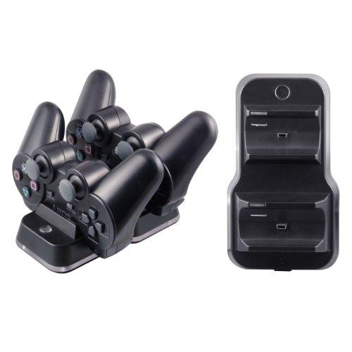 3 Playstation Fernbedienung-ladegerät (Mr.Gadget's Solutions ® Mit Netzteil, Controller Ladekabel für Playstation 3))