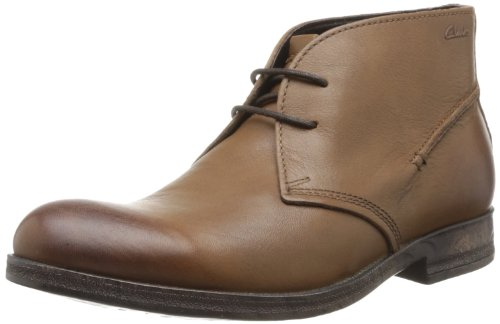 Clarks - Goby Hi, Scarpe stringate Uomo Marrone (Braun (Tobacco Leather))