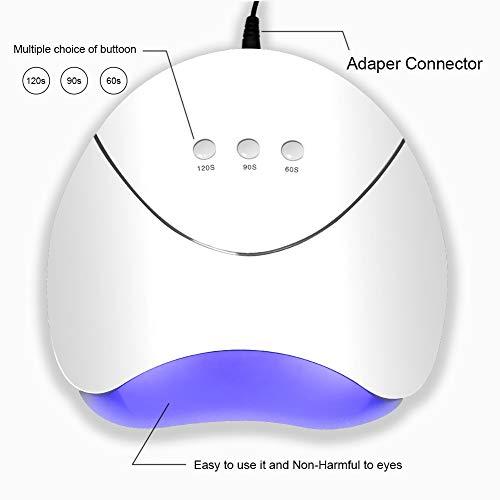 Saint-Acior Kit 10pc Smalto Semipermanente per unghie 36W USB Lampada UV LED Bianca Manicure Nail Art - 41YQFpfl%2BeL