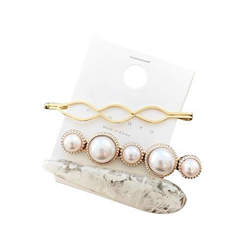 Haarklammer Elegante Kristall Haarspangen Haarspange Perle Haarnadel Kopfschmuck für Frauen Mädchen Von Taylor Kelsen (F)