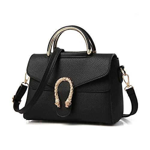 Medium Boston Handtasche (Tisdaini Damen Umhängetaschen Kroko handtaschen Mode Schultertaschen PU Leder Shopper)