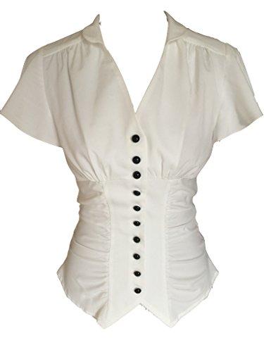Blusa con botones de estilo gótico/victoriano/steampunk de los...