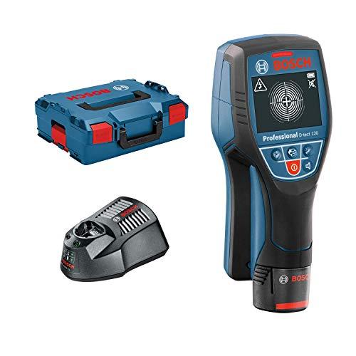 Bosch Professional Ortungsgerät D-tect 120 (1x 1,5 Ah Akku, Schnellladegerät, L-BOXX, Ortungstiefe max: 120 mm, 12 Volt)