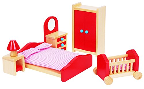 lelin-wooden-pink-bedroom-playset-childrens-pretend-doll-house-furniture